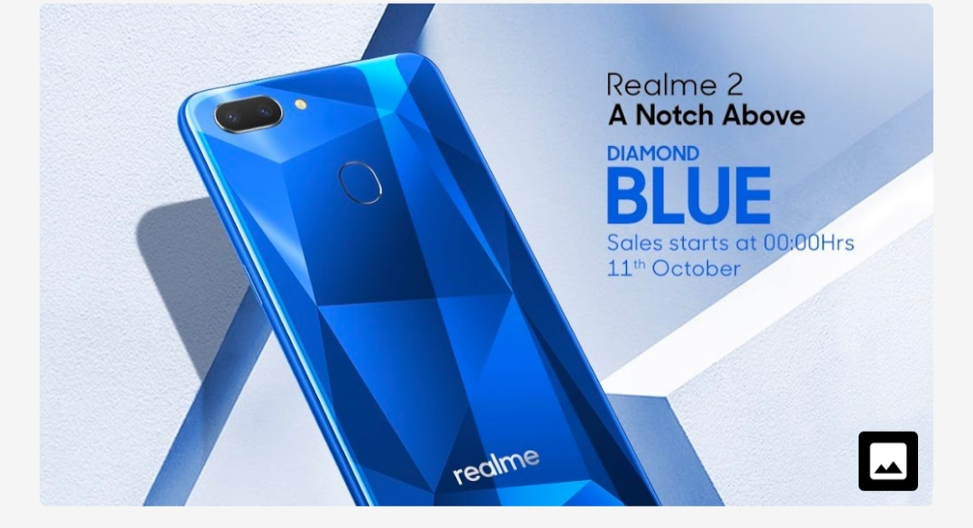 Realme 2 Diamond Blue color comming