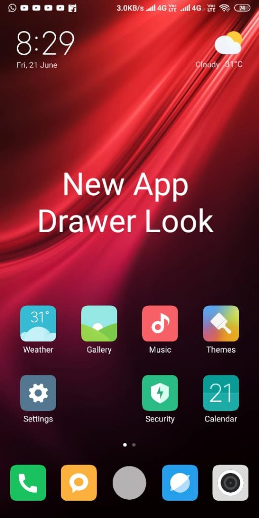MIUI 11 Launcher 4.0 Alpha Build with App Drawer Download Now
