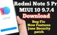 MIUI 10 9.7.4 Beta Update For Redmi Note 5 Pro Download