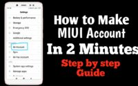 How to make MI Account