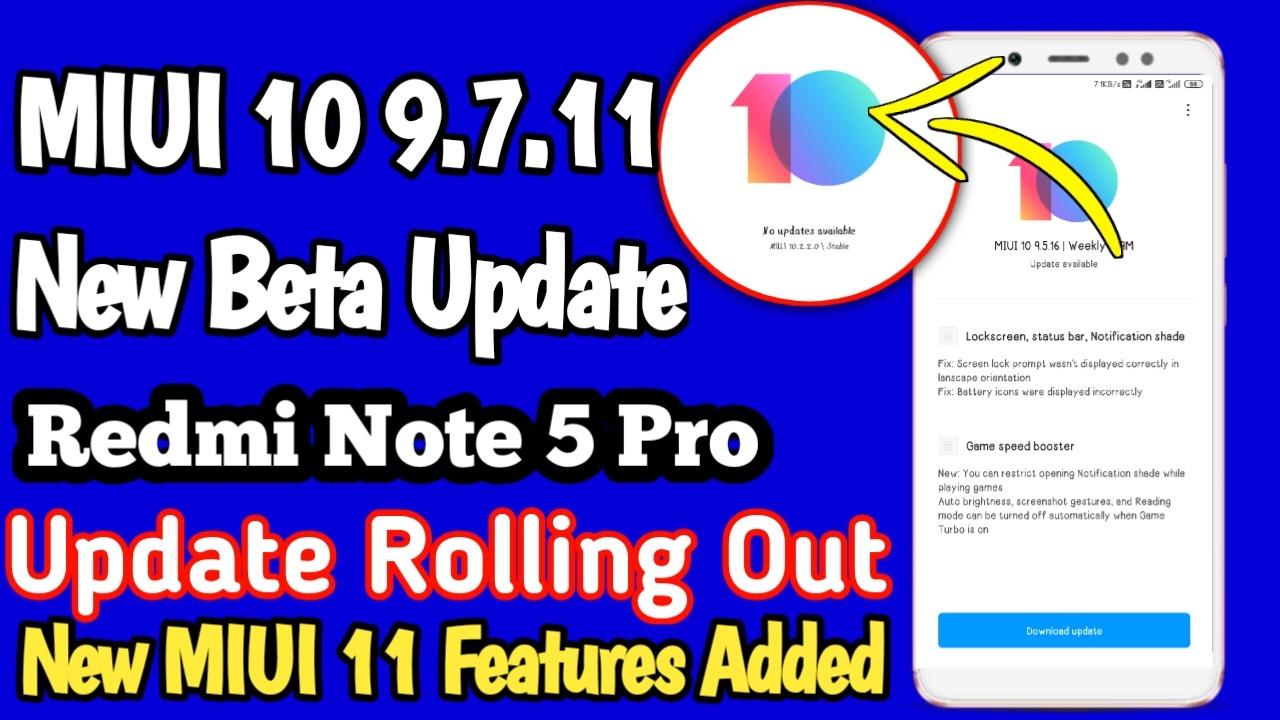 MIUI 10 9 7 11 Redmi Note 5 Pro Download, Redmi Note 5 Pro
