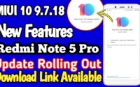 MIUI 10 9.7.11 Beta Update For Redmi Note 5 Pro Download