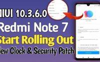 MIUI 10.3.6.0 Redmi Note 7 Download,