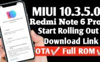 MIUI 10.3.5.0 Redmi Note 6 Pro Download, Redmi Note 6 Pro Latest Update