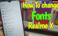 how to change fonts realme x