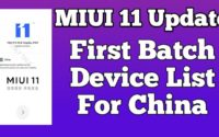MIUI 11 China First Batch Device List