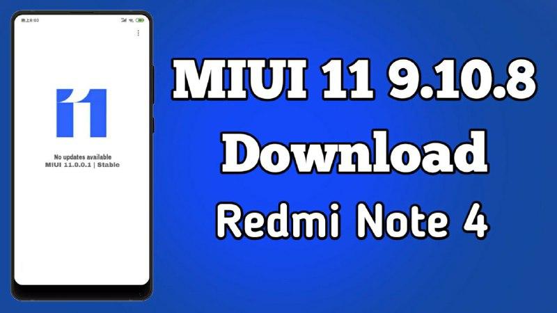 MIUI 11 9.10.10 Public Beta Update Note 4 Download