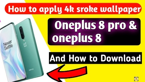 How to Apply stoke wallpaper Oneplus 8 & oneplus 8 pro