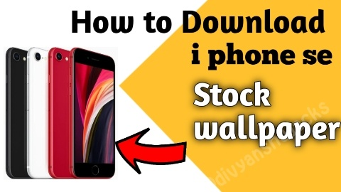 How to apply stock wallpaper an live wallpaper in I phone se