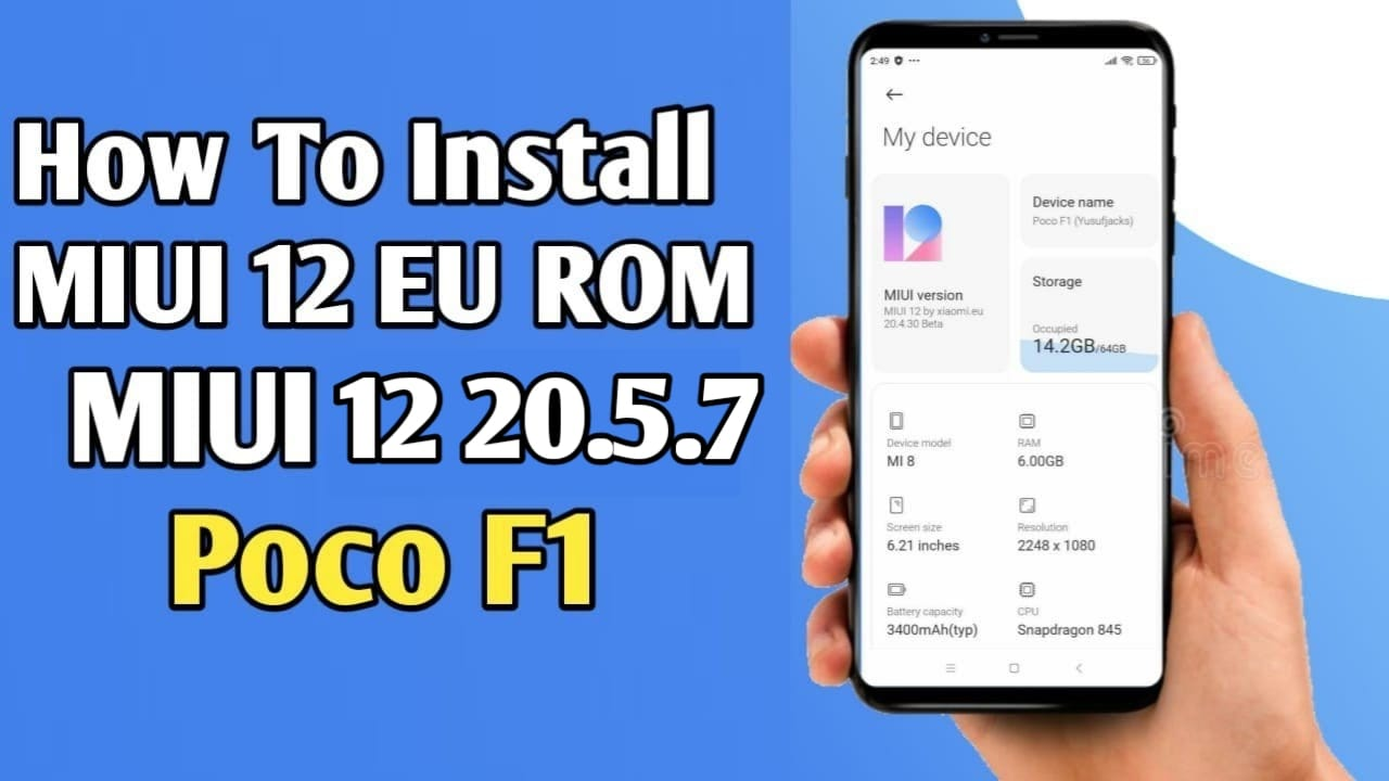 Download MIUI EU 12 20.5.7 For Poco F1