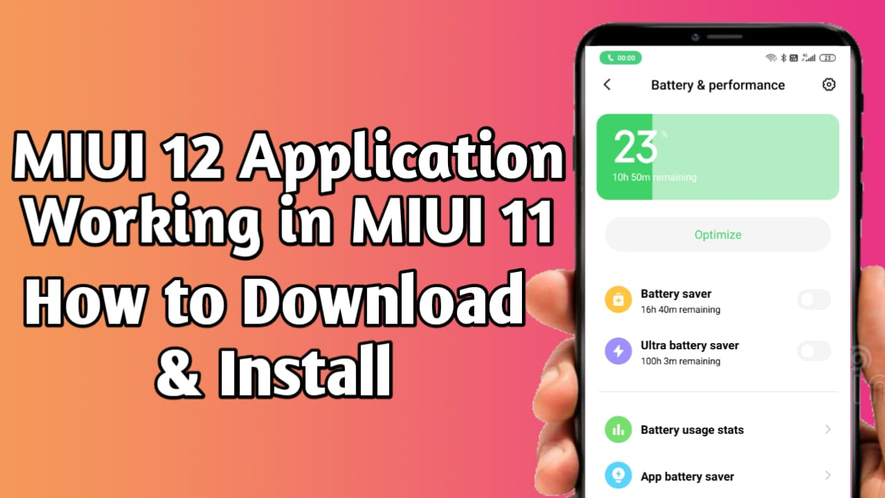 MIUI 12 Apps Working in MIUI 11 Download